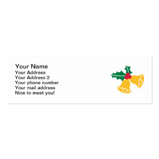 Bells holly business card templates