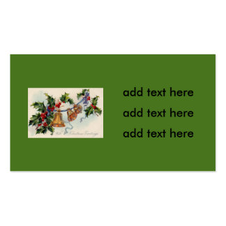 Bells Ribbon Holly Winterberry Pack Of Standard Business Cards