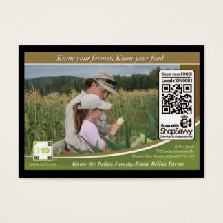 Belluz Farms Traceable Shelftalker Business Card