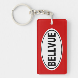 Bellvue Colorado Double-Sided Rectangular Acrylic Key Ring