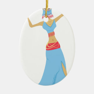 Belly Dancer Ceramic Ornament