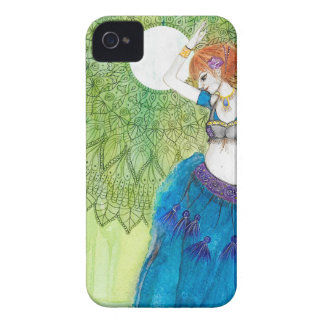 Belly Dancer in Blue iPhone 4 Cover