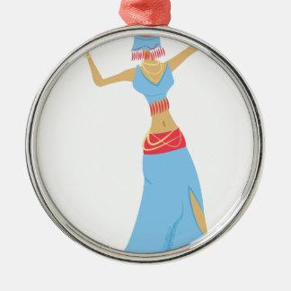 Belly Dancer Metal Ornament