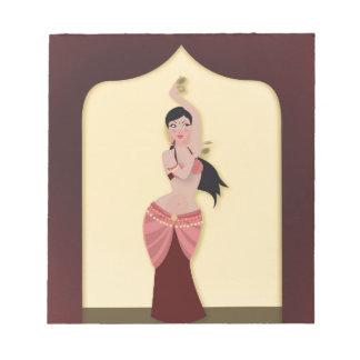 Belly Dancer Middle Eastern dancer Notepad