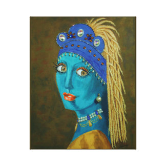 Belly Dancer w/ a Pearl Earring--Redo of Classic Canvas Print