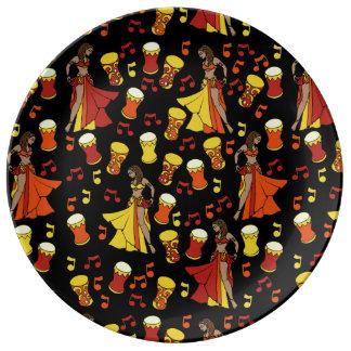 Belly Dancers Porcelain Plate