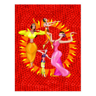 Belly Dancers Postcard