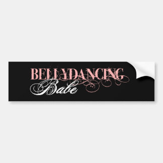 Belly Dancing Babe Bumper Sticker