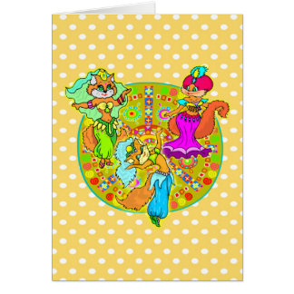 Belly Dancing Cats Card
