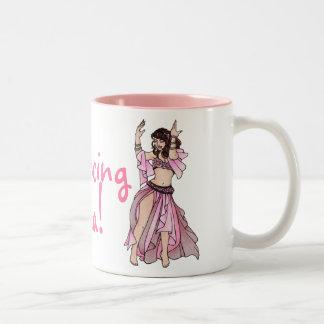 Belly Dancing Mama! Two-Tone Coffee Mug