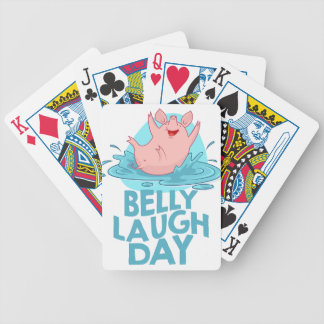 Belly Laugh Day - Appreciation Day Bicycle Playing Cards