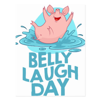 Belly Laugh Day - Appreciation Day Postcard