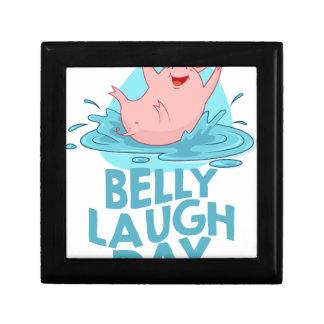 Belly Laugh Day - Appreciation Day Small Square Gift Box