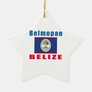 Belmopan Belize capital designs Ceramic Ornament