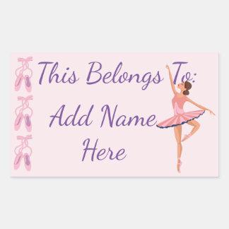 Belongs to: Ballerina Rectangular Sticker