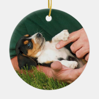 Beloved Beagle Puppy Ceramic Ornament