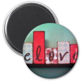 beloved blocks fridge magnet