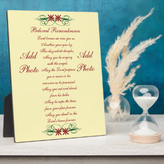 """""""Beloved Remembrance"""" Tabletop Plaque with Easel"""
