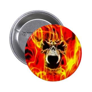 Belphegor Fiery Skull Pinback Button