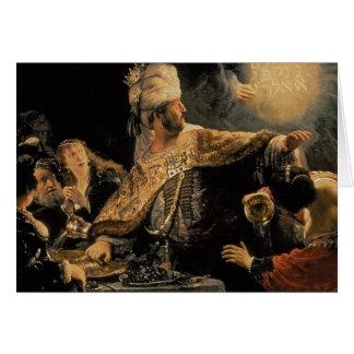 Belshazzar's Feast c.1636-38 Card
