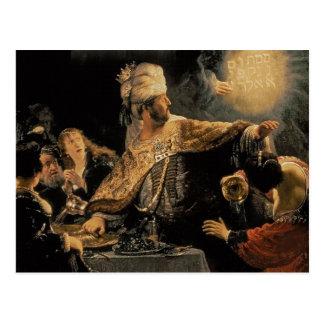 Belshazzar's Feast c.1636-38 Postcard