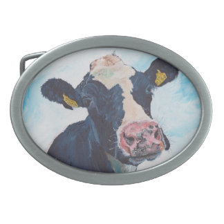 Belt Buckle - Friesian Cow