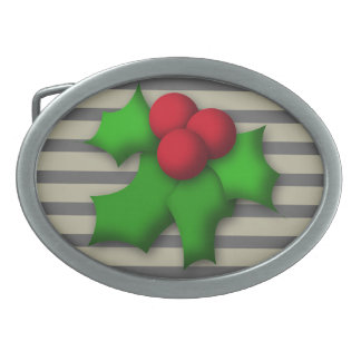 Belt Buckle, Funny Mistletoe Design Belt Buckle
