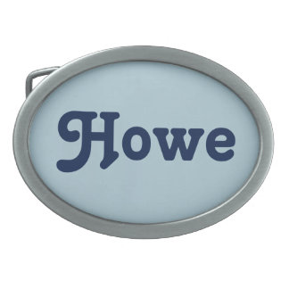 Belt Buckle Howe