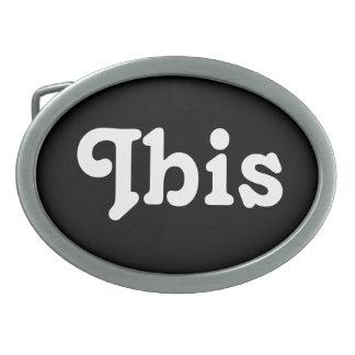 Belt Buckle Ibis