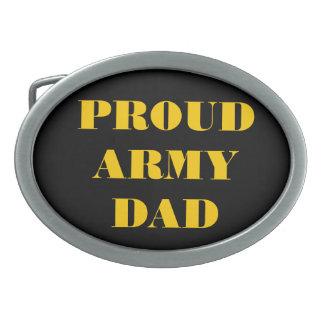 Belt Buckle Proud Army Dad