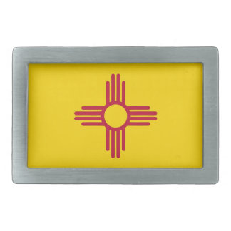 Belt Buckle with Flag of New Mexico State