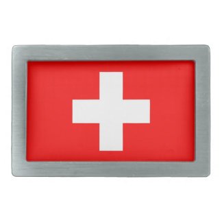 Belt Buckle with Flag of Switzerland