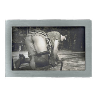 Belt Buckle - Young Lady - Rear View