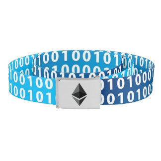 Belt Digital Blue Belt with Ethereum Logo