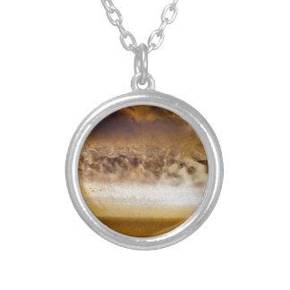 Belt of Jupiter Geode Silver Plated Necklace
