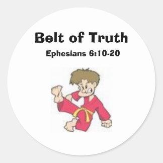 Belt of Truth, Ephesians 6:10-20 Classic Round Sticker