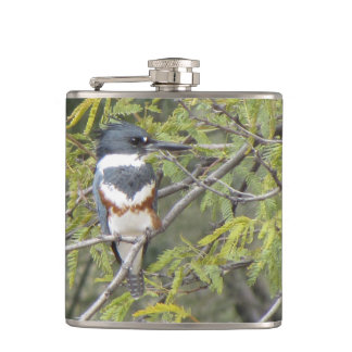 Belted Kingfisher Hip Flask