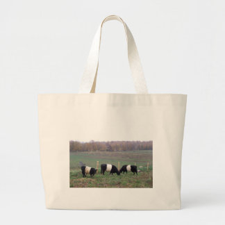 Beltie Cow Herd in Fall Large Tote Bag