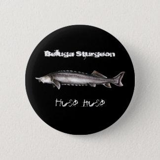 Beluga Sturgeon 6 Cm Round Badge
