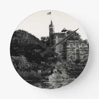 Belvedere Castle in Central Park, NYC Round Clock