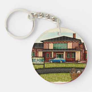 Belvoir Elementary Alumni (Personalized) Key Ring