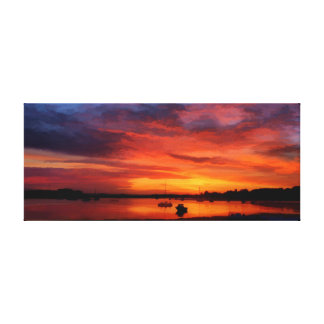 Bembridge Harbour at 0430 Canvas Print