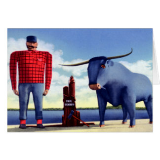 Bemidji Minnesota Paul Bunyan and Babe Card