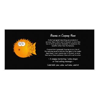Bemused Puffer Fish Customized Rack Card