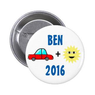 Ben Carson 2016 6 Cm Round Badge