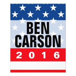 Ben Carson 2016 Political Conservative Full Color Flyer