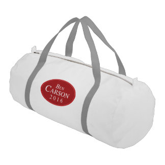 Ben Carson 2016 Red Oval Campaign Gym Duffel Bag