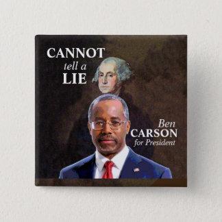 Ben Carson for President 15 Cm Square Badge