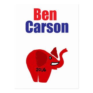Ben Carson for President Design Postcard