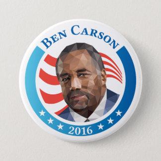Ben Carson portrait low polygon artwork 7.5 Cm Round Badge